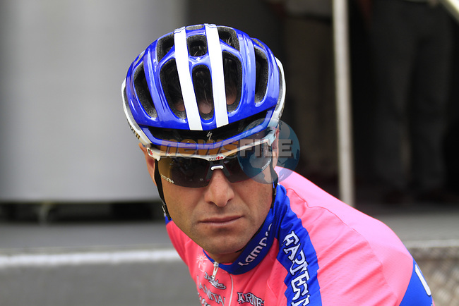 Alessandro Petacchi (ITA) Lampre-ISD at sign on before the start of Stage 2 of the 99th edition of the Tour de France 2012, running 207.5km from Vise to Tournai, Belgium. 2nd July 2012.<br /> (Photo by Eoin Clarke/NEWSFILE)