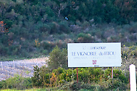 Here begins the vineyards and vignoble of Fitou. Fitou. Languedoc. France. Europe.