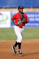 Jamal Austin #3 of the High Desert Mavericks during a game against the Visalia Rawhide at Stater Bros. Stadium on July 20, 2013 in Adelanto, California. High Desert defeated Visalia, 7-4. (Larry Goren/Four Seam Images)
