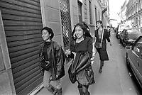 - Milano via Montenapoleone, Ottobre 1988 <br /> <br /> - Milan Montenapoleone street, October 1988