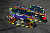 Monster Energy NASCAR Cup Series<br /> Hollywood Casino 400<br /> Kansas Speedway, Kansas City, KS USA<br /> Sunday 22 October 2017<br /> Kyle Busch, Joe Gibbs Racing, M&M's Halloween Toyota Camry and Martin Truex Jr, Furniture Row Racing, Bass Pro Shops / Tracker Boats Toyota Camry<br /> World Copyright: Barry Cantrell<br /> LAT Images