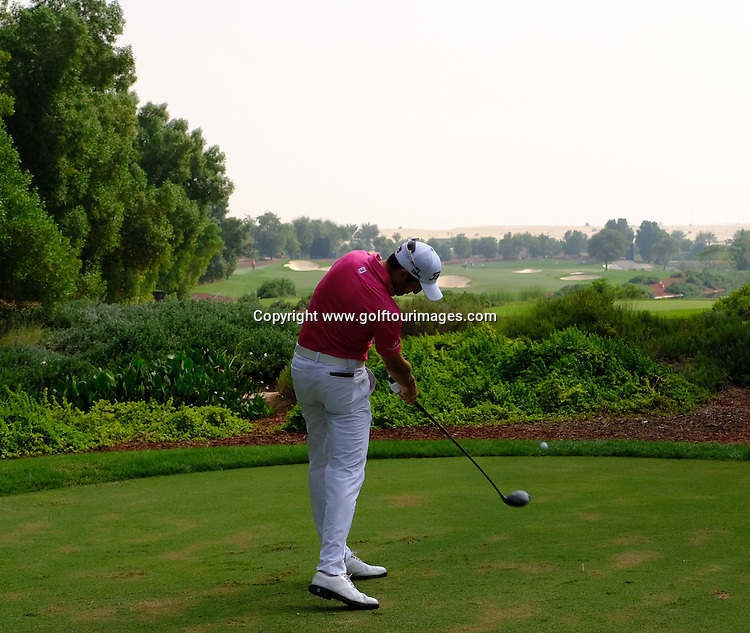 Gregory BOURDY (FRA) during round three of the 2016 DP World Tour Championships played over the Earth Course at Jumeirah Golf Estates, Dubai, UAE: Picture Stuart Adams, www.golftourimages.com: 11/19/16
