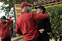 STANFORD, CA - APRIL 25: Robert Heck, Rachel Heck at Stanford Golf Course on April 25, 2021 in Stanford, California.
