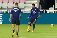 FORT LAUDERDALE, FL - DECEMBER 09: Julian Araujo #2 of the United States passes the ball during a game between El Salvador and USMNT at Inter Miami CF Stadium on December 09, 2020 in Fort Lauderdale, Florida.