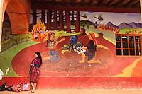 Guatemala, Chichicastenango, fMaya Maya fresco