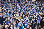 St Johnstone v Dundee United....17.05.14   William Hill Scottish Cup Final<br /> Saints fans celebrate victory<br /> Picture by Graeme Hart.<br /> Copyright Perthshire Picture Agency<br /> Tel: 01738 623350  Mobile: 07990 594431