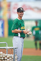 Lynchburg Hillcats manager Mark Budzinski (7) during practice before a game against the Wilmington Blue Rocks on June 3, 2016 at Judy Johnson Field at Daniel S. Frawley Stadium in Wilmington, Delaware.  Lynchburg defeated Wilmington 16-11 in ten innings.  (Mike Janes/Four Seam Images)