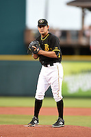 Bradenton Marauders pitcher Felipe Gonzalez (36) gets ready to deliver a pitch during a game against the Charlotte Stone Crabs on April 20, 2015 at McKechnie Field in Bradenton, Florida.  Charlotte defeated Bradenton 6-2.  (Mike Janes/Four Seam Images)