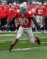 November 22, 2008. Ohio State defensive end Thaddeus Gibson. The Ohio State Buckeyes defeated the Michigan Wolverines 42-7 on November 22, 2008 at Ohio Stadium, Columbus, Ohio.