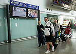 Teams arrive to the Hong Kong International Airport ahead the HKFC Citibank Soccer Sevens 2014 on May 21, 2014 in Hong Kong, China. Photo by Aitor Alcalde / Power Sport Images