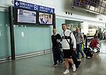 Teams arrive to the Hong Kong International Airport ahead the HKFC Citibank Soccer Sevens 2014 on May 21, 2014 in Hong Kong, China. Photo by Aitor Alcalde / Power Sport Images