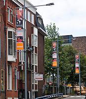 15-sept.-2013,Netherlands, Groningen,  Martini Plaza, Tennis, DavisCup Netherlands-Austria, Banners in town<br /> Photo: Henk Koster