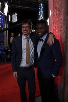 Irdens Exantus, winner best supporting actor for Guibord s'en va-t-en guerre, <br /> at the Gala du cinema Quebecois, March 20, 2016<br /> <br /> Photo : Pierre Roussel - Agence Quebec Presse
