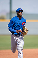 Chicago Cubs center fielder Trey Martin (25) during a Minor League Spring Training game against the Colorado Rockies at Sloan Park on March 27, 2018 in Mesa, Arizona. (Zachary Lucy/Four Seam Images)