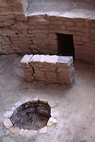 Kiva firepit deflector and vent, Cliff Palace, Mesa Verde National Park