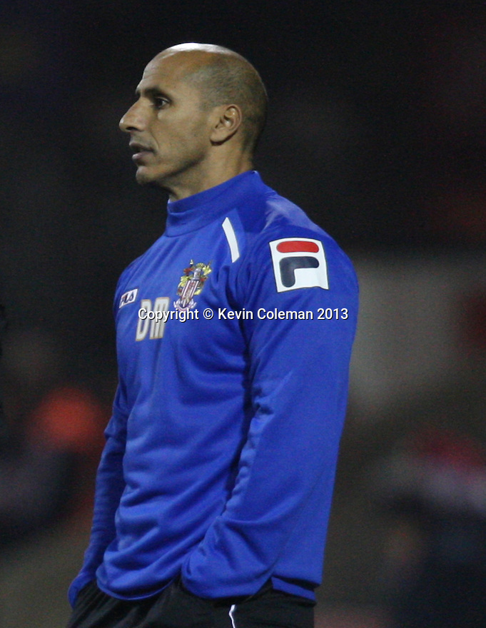 Stevenage assistant manager Dino Maamria<br />  - Swindon Town v Stevenage - Johnstone's Paint Trophy - Southern Section Semi-final  - County Ground, Swindon - 10th December, 2013<br />  © Kevin Coleman 2013