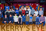 U14 boys at the Castleisland Desmonds LGFA/GAA Awards Night in the River Island Hotel on Sunday with guests Ashling O'Connell, Eilis Lynch and David Clifford