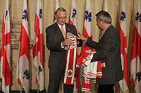 October 29 2012 - Montreal, Quebec, CANADA - Gerald Tremblay, Mayor of Montreal receive at City Hall  local athletes who took part in London 2012  Olympics and Paralympics games.