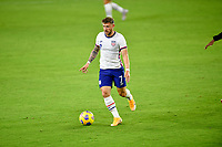 ORLANDO CITY, FL - JANUARY 31: Paul Arriola #7 of the United States turns and moves with the ball during a game between Trinidad and Tobago and USMNT at Exploria stadium on January 31, 2021 in Orlando City, Florida.