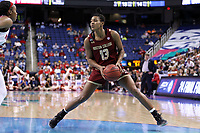 GREENSBORO, NC - MARCH 07: Taylor Soule #13 of Boston College during a game between Boston College and NC State at Greensboro Coliseum on March 07, 2020 in Greensboro, North Carolina.