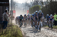 Team Alpecin-Fenix chasing some escaped riders down<br /> <br /> 53rd Le Samyn 2021<br /> ME (1.1)<br /> 1 day race from Quaregnon to Dour (BEL/205km)<br /> <br /> ©kramon