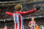 Antoine Griezmann of Atletico de Madrid celebrates during their Copa del Rey 2016-17 Quarter-final match between Atletico de Madrid and SD Eibar at the Vicente Calderón Stadium on 19 January 2017 in Madrid, Spain. Photo by Diego Gonzalez Souto / Power Sport Images