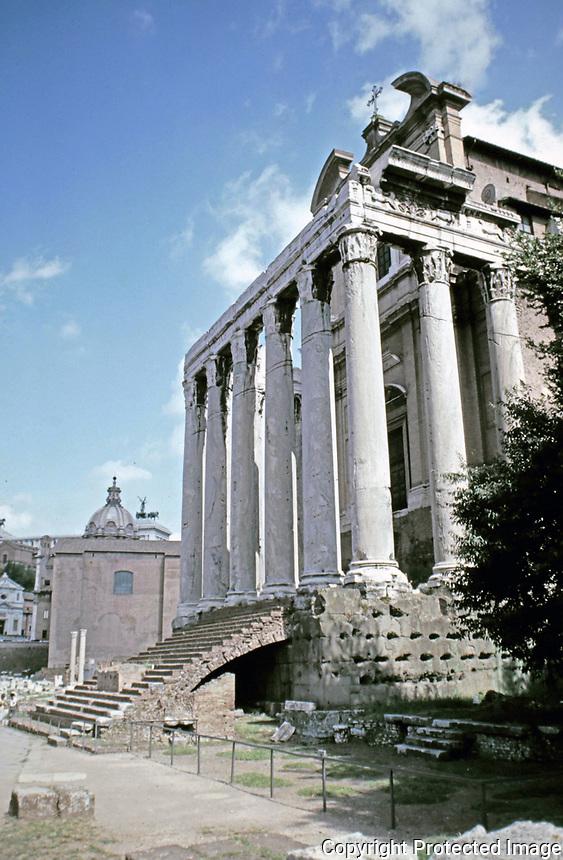 Temple of Antoninus and Faustina, Roman Forum, Rome Italy