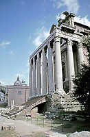 Temple of Antoninus and Faustina, Roman Forum, Rome Italy