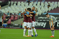 Felipe Anderson scores the third Goal and celebrates during West Ham United  during West Ham United vs Charlton Athletic, Caraboa Cup Football at The London Stadium on 15th September 2020
