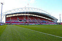 10th October 2020; Thomond Park, Limerick, Munster, Ireland; Guinness Pro 14 Rugby, Munster versus Edinburgh; A general view of empty stands at Thomond Park prior to kickoff
