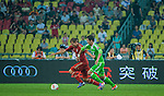 Holger Badstuber of Bayern Munich and Boris Streubel of VfL Wolfsburg in action during a friendly match as part of the Audi Football Summit 2012 on July 26, 2012 at the Guangdong Olympic Sports Center in Guangzhou, China. Photo by Victor Fraile / The Power of Sport Images