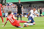 10.08.2019,  GER; DFB Pokal, SV Drochtersen/Assel vs FC Schalke 04 ,DFL REGULATIONS PROHIBIT ANY USE OF PHOTOGRAPHS AS IMAGE SEQUENCES AND/OR QUASI-VIDEO, im Bild Soeren Behrmann (Drochtersen #13) versucht sich gegen Steven Skrzybski (Schalke #22) durchzusetzen Foto © nordphoto / Witke *** Local Caption ***