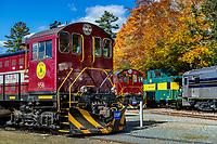 Hobo Railroad scenic foliage tours, Lincoln, New Hampshire, USA.