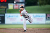 Greenville Drive starting pitcher Jhonathan Diaz (47) in action against the Kannapolis Intimidators in Game Two of the 2017 South Atlantic League Championship at Kannapolis Intimidators Stadium on September 13, 2017 in Kannapolis, North Carolina.  The Drive defeated the Intimidators 2-0.  (Brian Westerholt/Four Seam Images)
