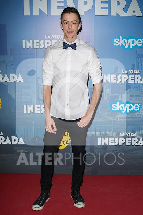 "Spanish Actor Victor Palmero attend the Premiere of the movie ""La vida inesperada"" at the Callao Cinema in Madrid, Spain. April 25, 2014. (ALTERPHOTOS/Carlos Dafonte)"