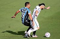 Santos (SP), 11.10.2020 - Santos-Grêmio - O jogador diego souza e pará. Partida entre Santos e Grêmio valida pela 15. rodada do Campeonato Brasileiro neste domingo (11) no estadio da Vila Belmiro em Santos.