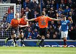 Gary Mackay-Steven celebrates the second goal for Dundee Utd