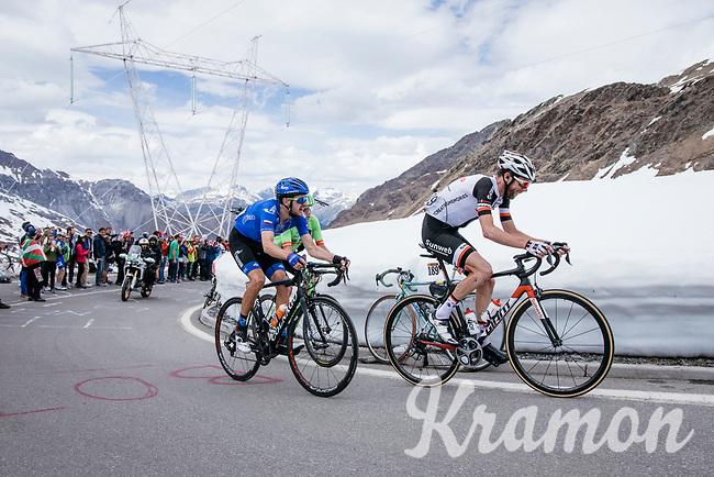 Laurens ten Dam (NED/Sunweb) up the Passo dello Stelvio (alt: 2758m)<br /> <br /> Stage 16: Rovett › Bormio (222km)<br /> 100th Giro d'Italia 2017