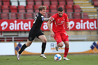 Nick Freeman of Leyton Orient and Tom Conlon of Port Vale during Leyton Orient vs Port Vale, Sky Bet EFL League 2 Football at The Breyer Group Stadium on 20th February 2021