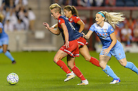 Chicago, IL - Saturday Sept. 24, 2016: Joanna Lohman, Julie Johnston during a regular season National Women's Soccer League (NWSL) match between the Chicago Red Stars and the Washington Spirit at Toyota Park.