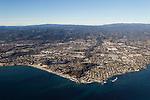 Coastline and city, Santa Cruz, Monterey Bay, California