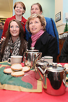 NO REPRO FEE. President McAleese has visited the Focus Ireland Coffee Shop. 20/12/2010. L-R Sr Stan Kennedy, Josie O Rourke {customer), Beckie Leacy {customer) and President Mary McAleese at the Focus Ireland Coffee Shop and Housing Advice Service in Temple Bar. The Centre provides meals, advice, information and support to the homeless.Picture James Horan/Collins Photos