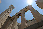 The Temple of Athena Nike in the Acropolis.