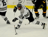 1 December 2007: Providence College Friars' forward Austin Mayer, a Freshman from Providence, RI, in action against the University of Vermont Catamounts at Gutterson Fieldhouse in Burlington, Vermont. The Friars defeated the Catamounts 4-0 in front of a capacity crowd of 4003, for the 64th consecutive sell-out at Gutterson...Mandatory Photo Credit: Ed Wolfstein Photo
