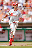 11 June 2006: Aaron Rowand, outfielder for the Philadelphia Phillies,at bat during a game against the Washington Nationals at RFK Stadium, in Washington, DC. The Nationals shut out the visiting Phillies 6-0 to take the series three games to one...Mandatory Photo Credit: Ed Wolfstein Photo..