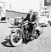 0501-02 Harley Davidson in Portland, early 1952.