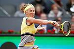 Svetlana Kuznetsova, Russia, during Madrid Open Tennis 2017 match. May 12, 2017.(ALTERPHOTOS/Acero)
