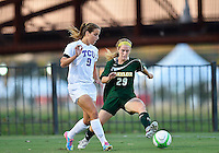 TCU midfielder Patry Carrion (9) and Baylor defender Hadley Young (29) attempt to controll the ball during NCAA soccer game, Friday, October 03, 2014 in Waco, Tex. TCU and Baylor tied 1-1 at the halftime. (Mo Khursheed/TFV Media via AP Images)