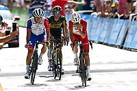 11th July 2021, Ceret, Pyrénées-Orientales, France; Tour de France cycling tour, stage 15, Ceret to  Andorre-La-Vieille;  MARTIN Guillaume (FRA) of COFIDIS during stage 15 of the 108th edition of the 2021 Tour de France cycling race, a stage of 191,3 kms between Ceret and Andorre-La-Vieille.
