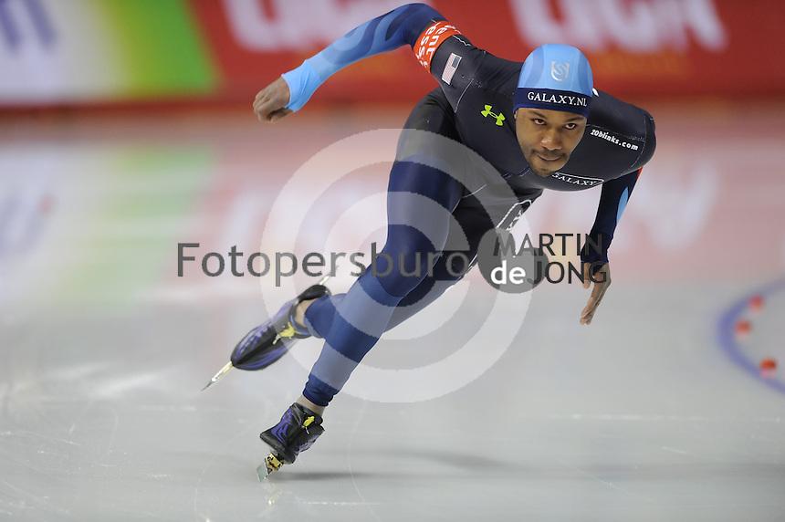 SCHAATSEN: Calgary: Essent ISU World Sprint Speedskating Championships, 28-01-2012, 500m Heren, Shani Davis (USA), ©foto Martin de Jong